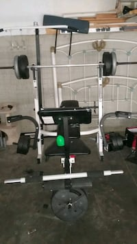 Weight bench plus pull up bar Des Moines, 50319
