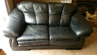 Leather sofa an loveseat