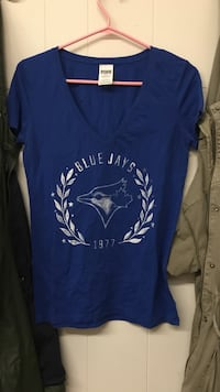 Vs pink Bluejays shirt