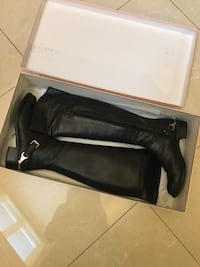 Black leather over the knee boots Mississauga, L4T 3H7