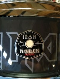 Officially lic. Iron maiden snare drum. By Premier  Lancaster, 93536