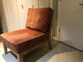 Slipper chair, sofa table, and end table...