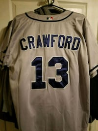 Carl Crawford World Series Ray's Jersey Mount Airy, 21771