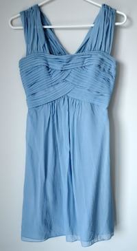 Light blue / periwinkle silk BCBG dress size 2