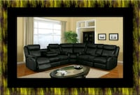 Cshape sectional Black bonded leather Upper Marlboro, 20772