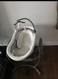 Baby's white and gray cradle n swing, barely used  Lithonia, 30058