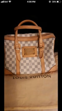 brown and white Louis Vuitton leather tote bag Winnipeg, R3A 0M6