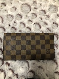 Damier Ebene Louis Vuitton leather long wallet Vancouver, V5P 2P7