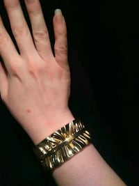 Vintage Gold Plated Bracelet With Spring Clasp