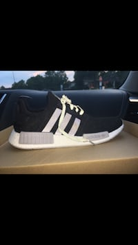black-and-white Adidas NMD shoes with box Cincinnati, 45248