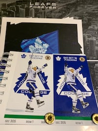 Toronto Maple Leafs vs Boston Bruins Sat Oct 19th - Front Row Greens Richmond Hill, L4B