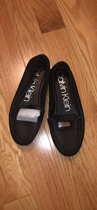Pair of Calvin Klein black leather loafers  Toronto, M3J 1S9