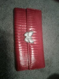 red and black leather wallet Des Moines, 50317