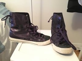 Purple Converse High Tops