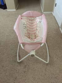 baby's white and pink rock and play sleeper Vail, 85641