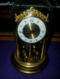 Vintage Schmid mechanical wind-up anniversary clock Germany