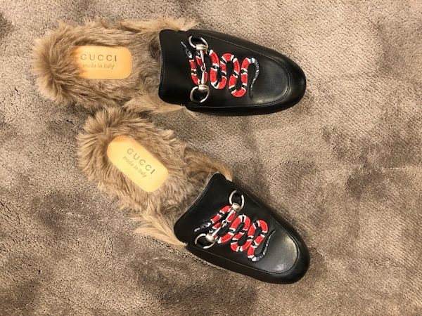 d209f9d92f59 Used Gucci Princetown Slippers with Gucci Snake for sale in Dallas - letgo