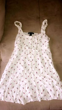 white and red  small floral sleeveless dress Orem