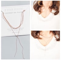 Rose gold choker necklace Toronto, M9P