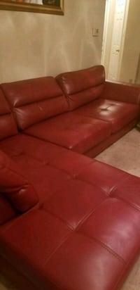 red leather 2 piece sectional sofa Dallas, 75287