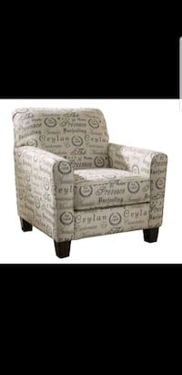 gray and black floral fabric sofa chair Rosedale, 21237