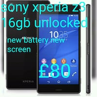 Sony Xperia z3 16gb unlocked  new screen new batte London, NW2 7NB