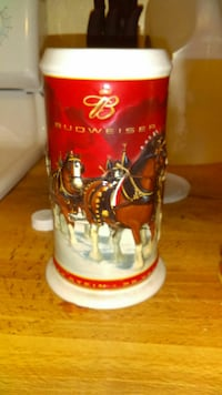 red and white Budweiser beer stein Redding, 96002