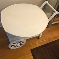 VIntage Tea Cart Distressed White  Measurements: 24 X 30 X 33 inches (30 wide with the table open to the sides)  Smoke and pet free home!  Well taken care of.   VIEW MY OTHER ADS!!! Toronto