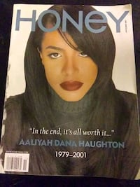 *Aaliyah* Collectors Edition Honey Magazine cover  Seattle, 98112
