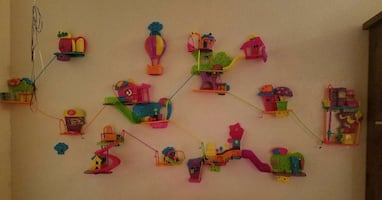 polly pocket complete wall playset