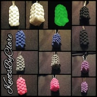 assorted-color braided KnotsByClare keychain collage London, N6B 1G8