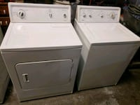 white front-load clothes washer and dryer set 165 mi