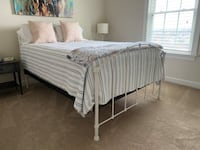 Full-Size Bed frame with Mattress & sheets