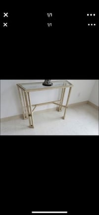 HALLWAY TABLE ENTRYWAY WITH GLASS TOP
