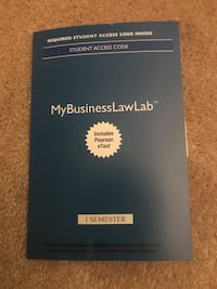 2017 MyBusinessLawLab with Pearson EText -- Access Card  Middle Smithfield, 18302
