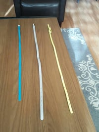 3 Belts A Yellow A Blue A Sliver With Shiny Gloss