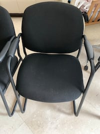 3 Black and gray rolling armchair office chair Hialeah, 33016