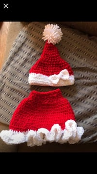 Red and white crochet Christmas set Linthicum Heights, 21090