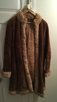 Brown leather coat, good quality
