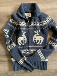 Blue and white knitted sweater Edmonton, T6L 3P4