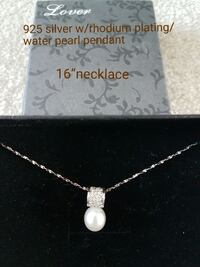 silver chain necklace with white rhodium plating w Markham, L6B