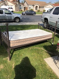 Twin size iron bed with good mattress