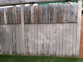 7 fence panels good condition