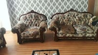 brown and beige floral fabric sofa set Toronto, M3C