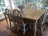 rectangular brown wooden table with six chairs dining set Ellicott City, 21042
