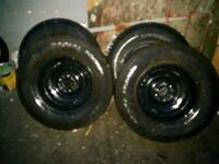 FIVE TRAILER TIRES AND RIMS ST205/75/R15 Surrey, V3W 0S6