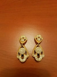 Vintage Christian Dior gold plated earrings  Los Angeles, 90024