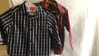 Two button down shirts size 2T Carter's and 3T graphite clothing  Laval, H7T 1C8