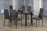 Brand new 7pc tempered glass dining set on sale  547 km