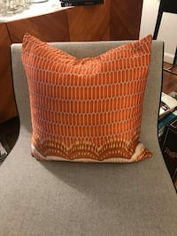 West Elm Silk Pillow 20x20 with fill. Boston, 02120
